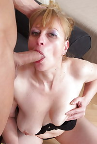 Mummy wants to suck your cock so you can fuck her ass.