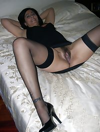 Real wives and girlfriends in stockings 5