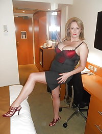 Busty Mature Blonde Milf, Cleavage and Stocking Tops 3
