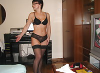 Wife Stripping For Hubby