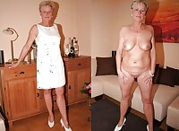 Matures dressed and undressed