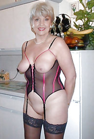 MILF in girdles and nylon