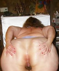 Mom Fat old Granny Chubby Big Round Ass - Plumper Mature Butt - Anal Booty