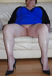 Granny Mature Hose and Heels