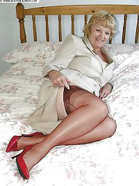 Granny Mature Hose and Heels
