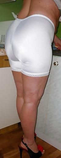 Pushunas white longleg panty girdle