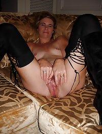 Slut Wife Bridgette Mature Hairy Pussy Fucked and Creampie