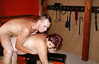 Mature mom fucked by not her son in BDSM club