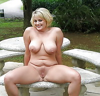 Open and shaven pussy