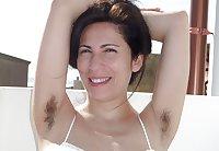 Amateur mature milf hairy armpits spreading